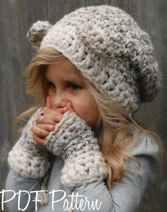 crochet PATTERN-The Burkleigh Bear Set Toddler door Thevelvetacorn