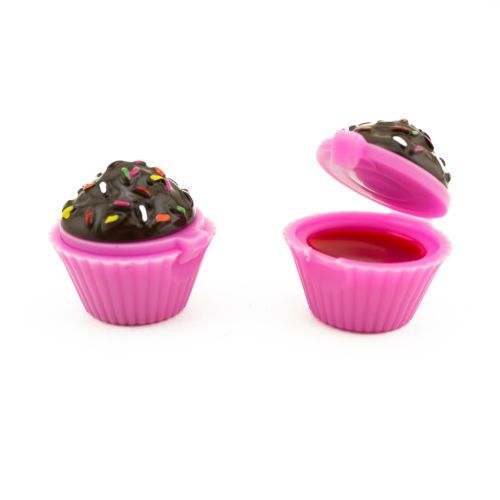 Sweet-Receita-Cupcake-Bolo-Deserto-Cor-Rosa-Brilhante-Lip-Balm-Protetor-Labial-Gloss-Lote