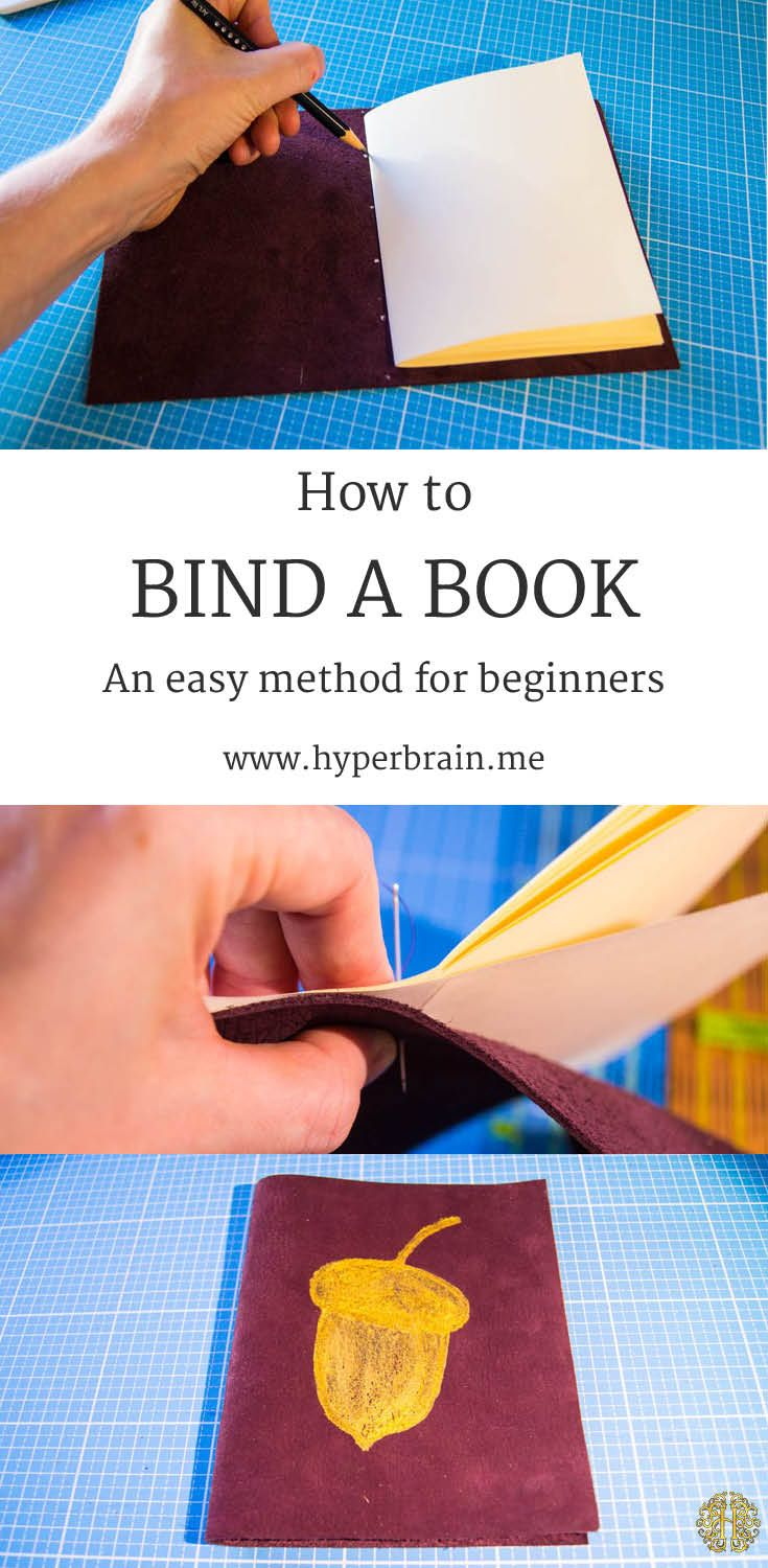 How to bind a book - an easy method for beginners - bookbinding, paperwork, leather - www.hyperbrain.me