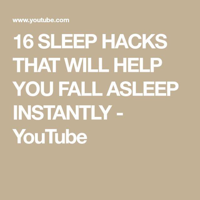 16 SLEEP HACKS THAT WILL HELP YOU FALL ASLEEP INSTANTLY - YouTube
