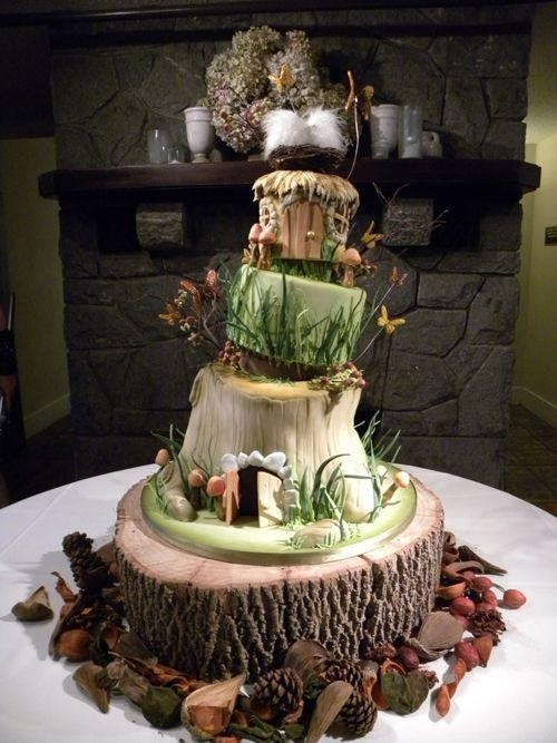 forest inspired wedding cakes forest themed cake cakes wedding cakes 14406