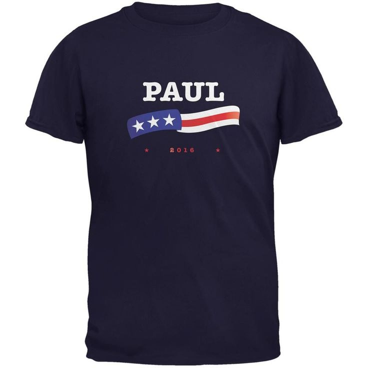 Election 2016 Rand Paul American Flag Navy Adult T-Shirt