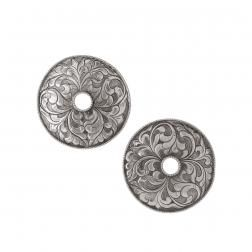 Floral, silver and handcrafted earrings from NEPAL collection by Anna Orska.