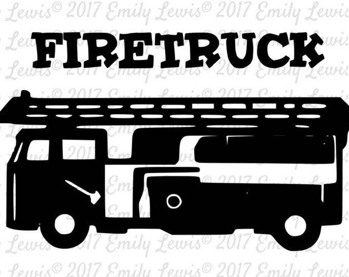 Firetruck SVG - Firetruck svgs - Firetruck Cut File - Firetruck SVG File - Firetruck Decal - Firetruck Wall Decal - cricut files - cricut