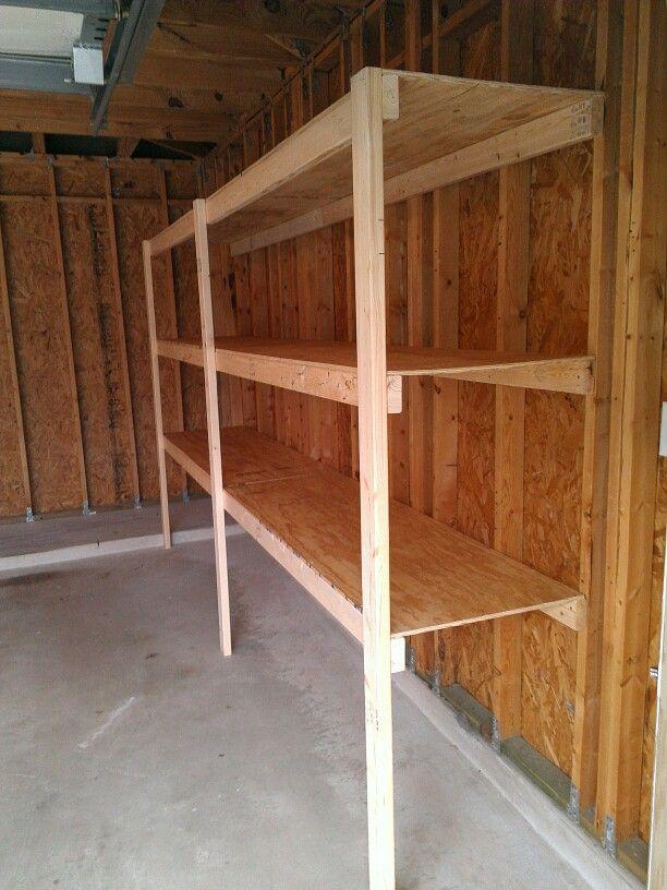 Garage storage Garage, ideas, man cave, workshop, organization, organize, home, house, indoor, storage, woodwork, design, tool, mechanic, auto, shelving, car.