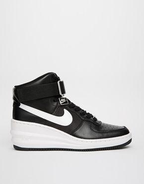 Nike – Lunar Force 1 Sky – Hohe, schwarze Turnschuhe