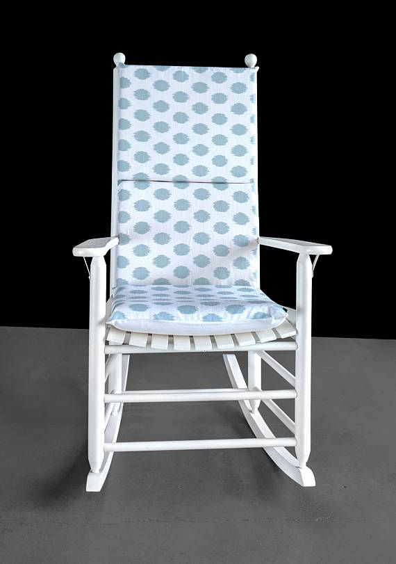 Light Blue Polka Dot Rocking Chair Cover Blue Rocking