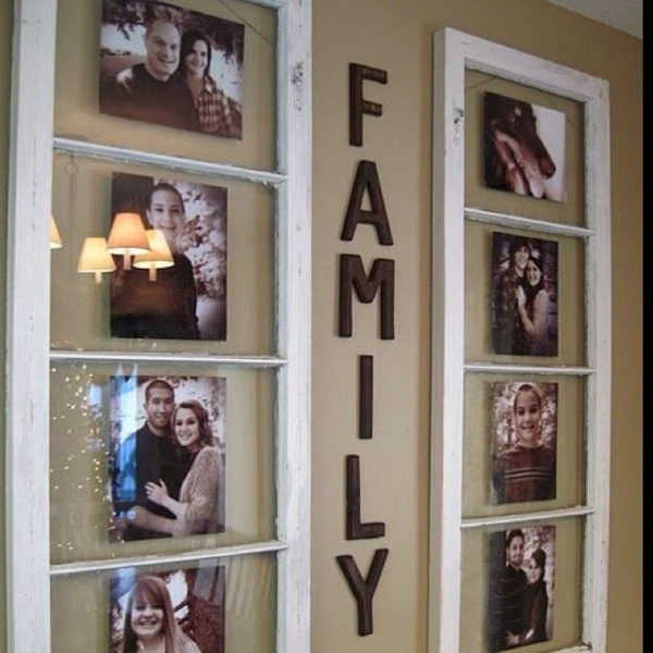 Old window frame used as picture frames, lovely. msingh514