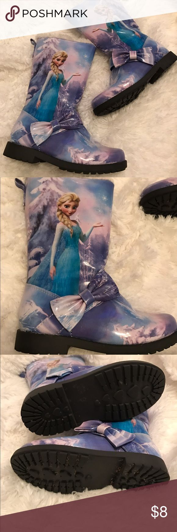 Disney Frozen boots These boots have a great picture of Elsa on the side. Only worn a couple times. Shoes Boots