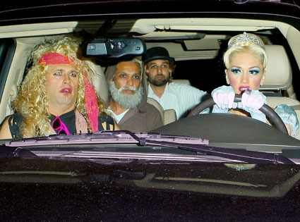 Gwen Stefani, Tony Kanal & Friends from Best Celebrity Halloween Costumes  Just your average carpool in Los Angeles, people.