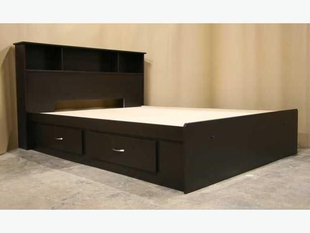 classic bedroom with king bed frame headboard espresso dark brown bed frame and two - King Size Bed Frame With Drawers Underneath