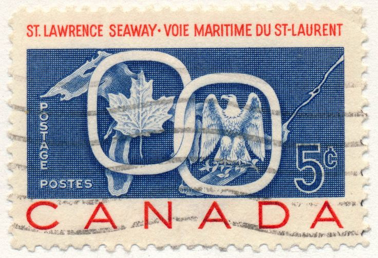 St. Lawrence Seaway, a joint undertaking between Canada and the USA. Dedication day was June 26, 1959. (issued 1959)