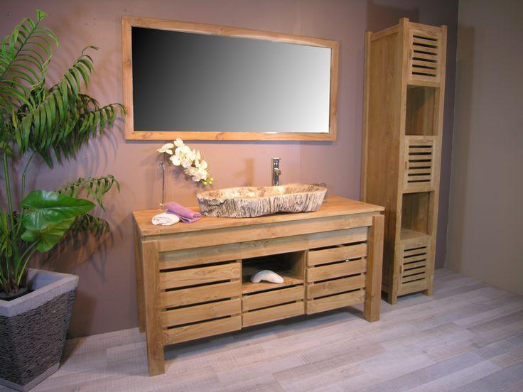 17 best ideas about meubles teck on pinterest table teck for Meuble salle de bain tek