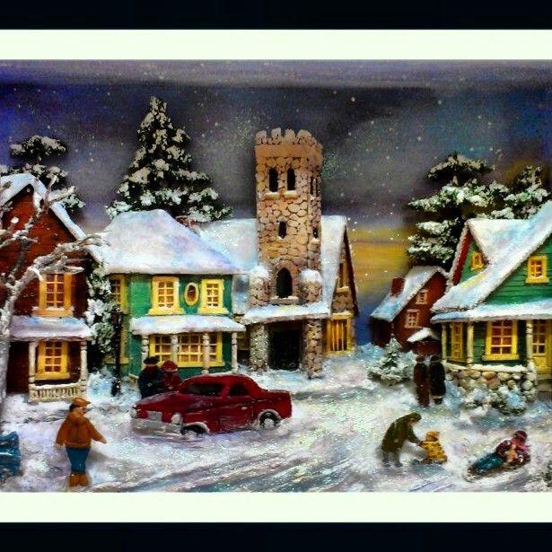 Ahşap Rölyef,Kar,Snow,3d,Relief,Soğuk ama sıcak,Manzara,Kar Manzarası,El Yapımı,El İşi,Handmade