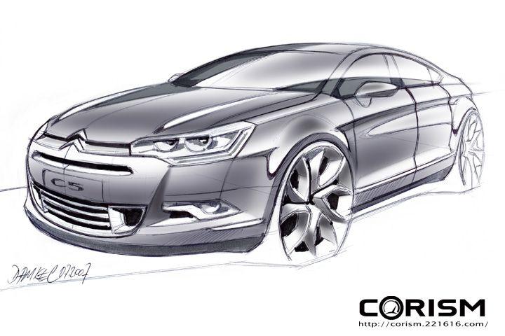 Citroen C5 concept sketch