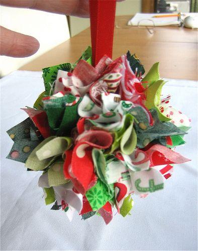 Adornos de tela para el árbol de Navidad. Tutorial.