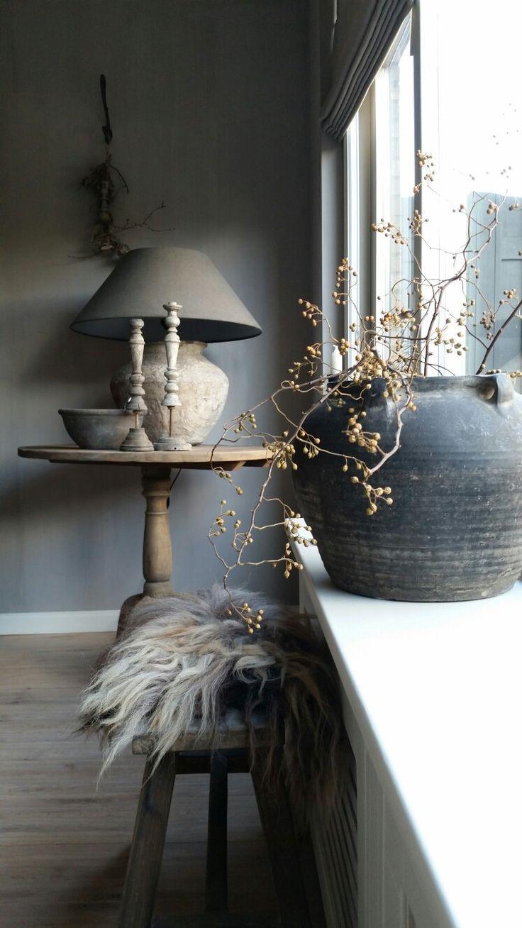 Jar with foliage