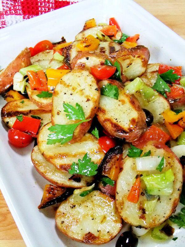 grilled potato salad - proud italiancook