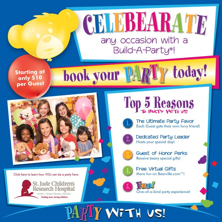 Top 5 reasons to party at Build-A-Bear workshop! birthday party or otherwise...