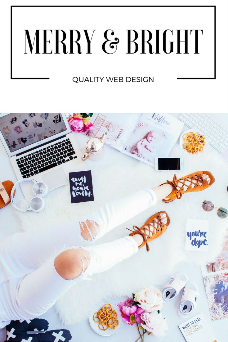 Merry & Bright Quality Web Design. Let us build your blog for you! Wordpress