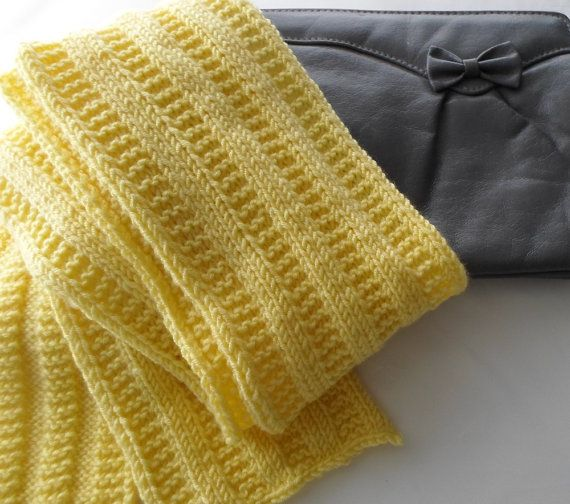 Yellow Scarf No Wool Winter Fashion Vegan Scarf Gift Idea Ready to Ship - love this colour by BaytreeStudio
