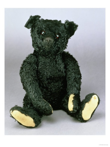 An Exceptionally Fine and Rare Steiff Black Teddy Bear with Black Mohair, 1912