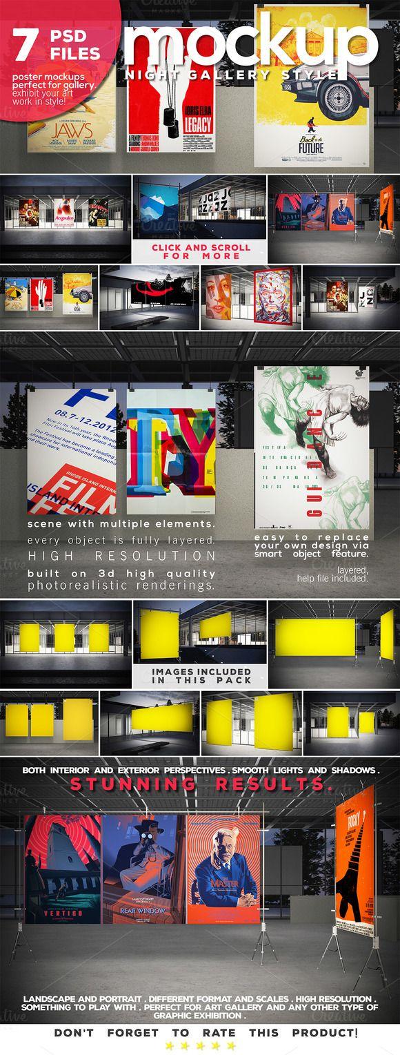 Poster Mockup Vol.4-Night Gallery by Northern Kraft on Creative Market