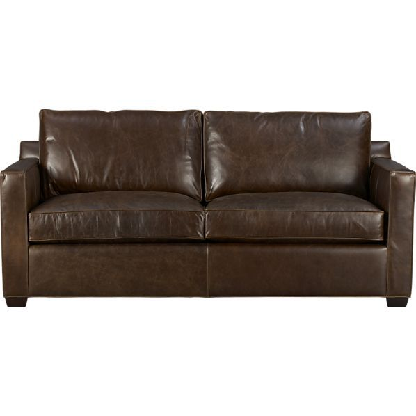 Davis Leather Sofa Crate And Barrel Upholstery Stains