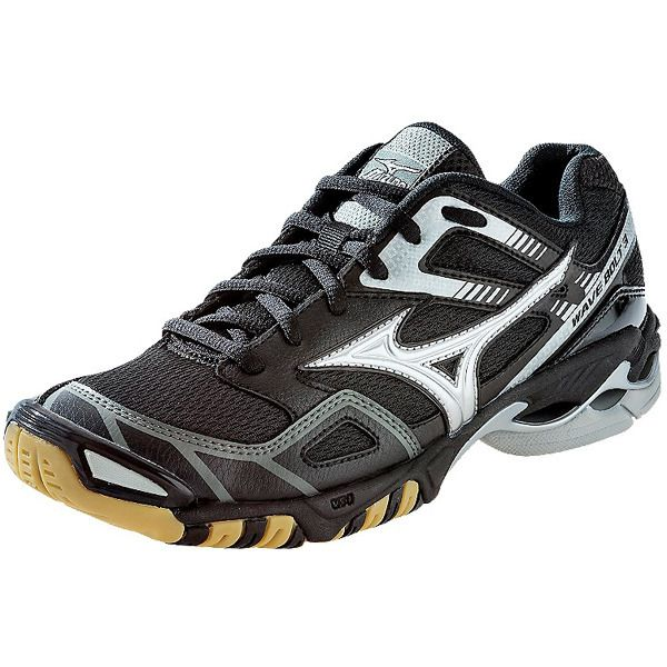 NEW at All Volleyball! Mizuno Women's Wave Bolt 3 in Black/Silver $86.45
