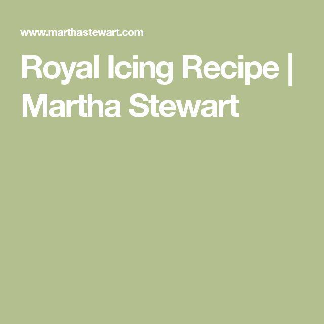 Royal Icing Recipe | Martha Stewart