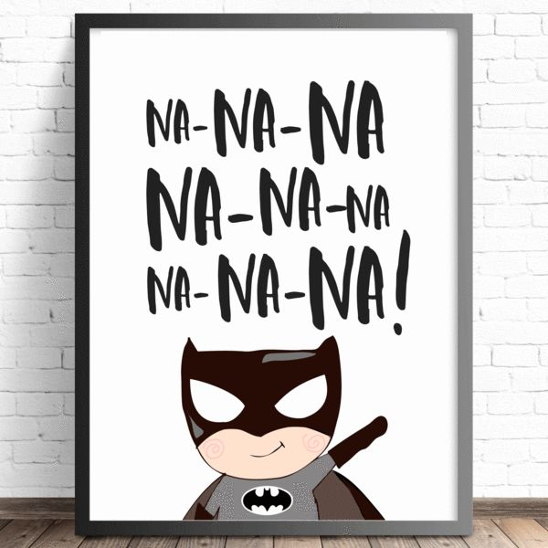 Batman Nursery Print | Baby, Boys, Kids Bedroom Wall Art | Superhero