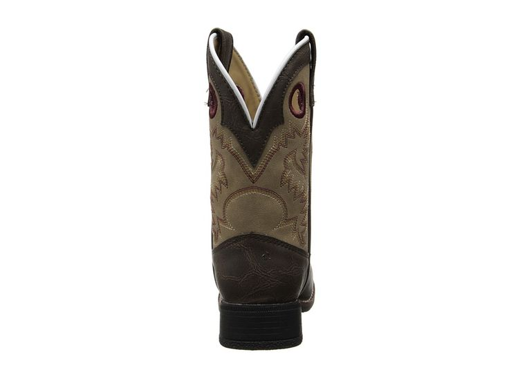 Laredo Kids Collared (Toddler/Little Kid) Cowboy Boots Brown/Tan Sanded