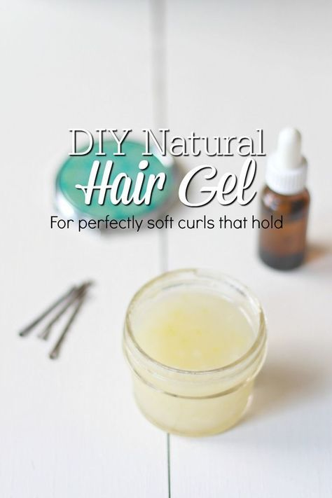 This DIY Natural Hair Gel may be my favorite homemade natural beauty product of all time! This hair gel gives you soft, beautiful curls that hold, without weighing your hair down.