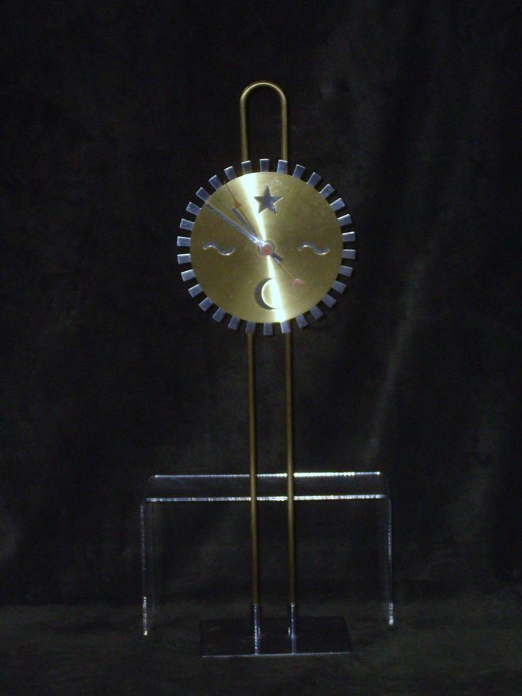 Vintage Ikea Metal Clock, Ikea Art Clock, Sun Moon Stars Steel Clock, Vintage Working Ikea Desk Clock, Modern Art Design Clock, Art Techie by HeyJudeCollection on Etsy