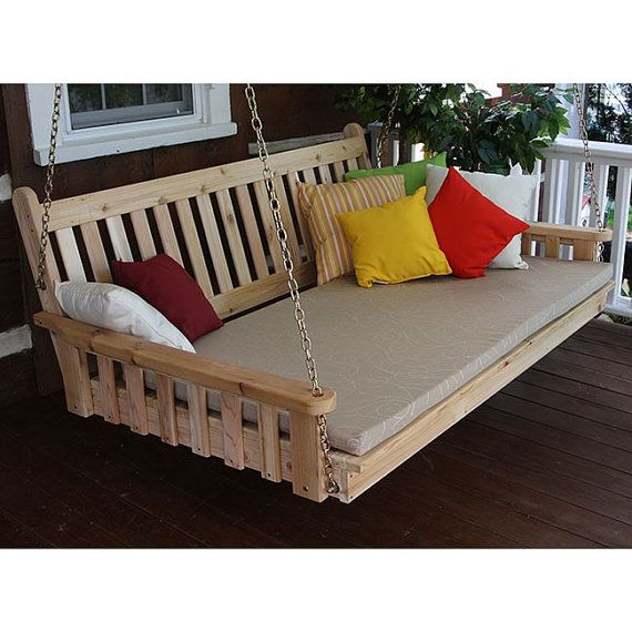 1000 Ideas About Porch Swing Beds On Pinterest Swing