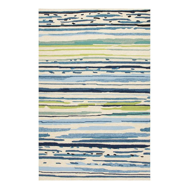 The Colours Sketchy Lines Rug from Jaipur is hand-hooked from 100% polypropylene, making it durable and easy to care for, even with constant outdoor use. http://www.yliving.com/blog/top-5-modern-outdoor-rugs/