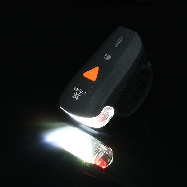 XANES SFL-01 600LM XPG + 2 LED Bicycle German Standard Smart Sensor Warning Light Waterproof Bike Front Light Headlightt Flashlight 5 Modes USB Charging Night Riding Sale - Banggood.com