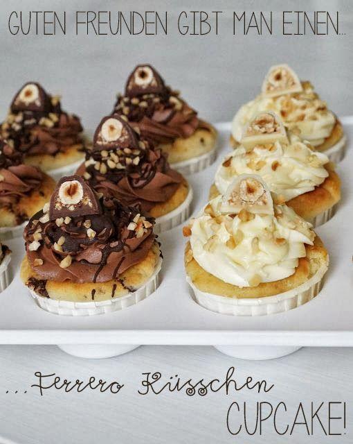 Bäckerei: Ferrero Küßchen Cupcakes - http://tassenkuchen-selber-machen.de/allgemein/baeckerei-ferrero-kuesschen-cupcakes-2/
