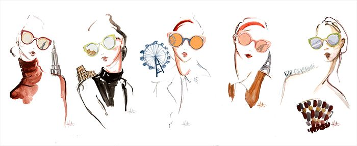 5 Gorgeous Fashion Illustrations Inspired by Fendi's Must-Have Sunglasses via @WhoWhatWear