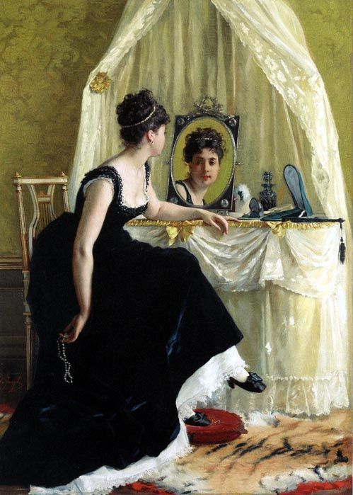 """Vanity"" by J. Beraud. #classic #art #painting"
