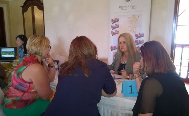 Rovos Rail exhibiting at the Exclusive Getaways workshop at Cricklewood Manor in Pretoria Nov 2014
