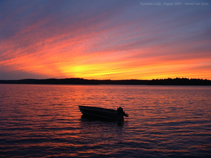 Sunset over Kennisis Lake - Haliburton, Ontario, Canada