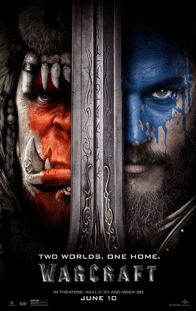 Warcraft (2016) ... Looking to escape from his dying world, the orc shaman Gul'dan utilizes dark magic to open a portal to the human realm of Azeroth.  Uniting to protect Azeroth from these hulking invaders are King Llane, the mighty warrior Anduin Lothar and the powerful wizard Medivh. As the two races collide, leaders from each side start to question if war is the only answer. (08-Jun-2016) with Adam.