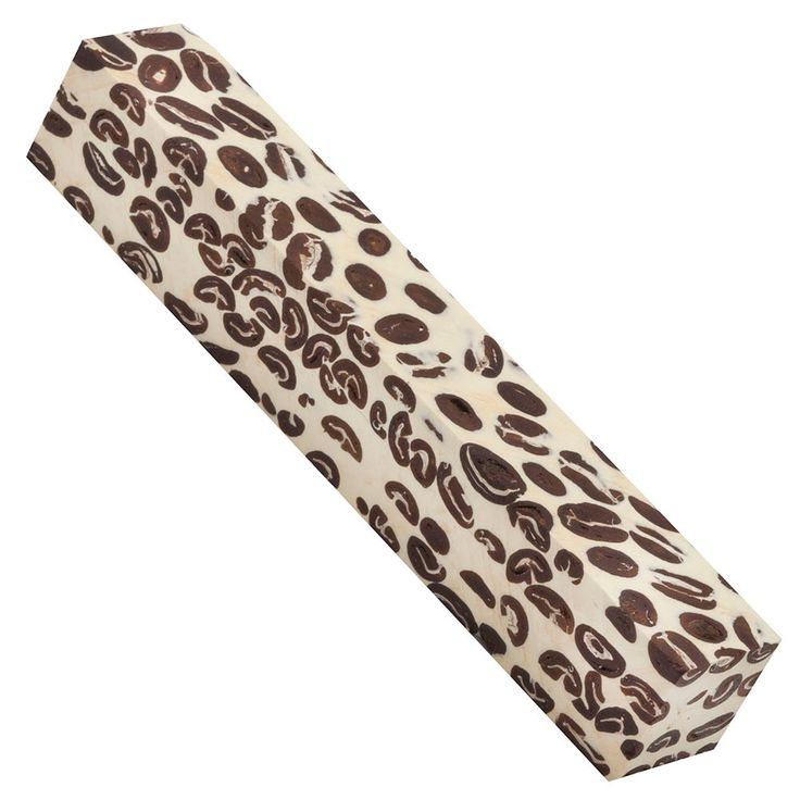 Coffee Bean Pen Blanks from Craft Supplies USA --- Enjoy the fresh aroma of coffee all day long with a genuine Pen Makers Choice™ Coffee Bean Pen Blank.#coffee #woodturning #penblank #penturning #penmaking