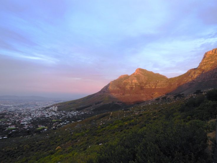 Sunset at Table Mountain in Cape Town