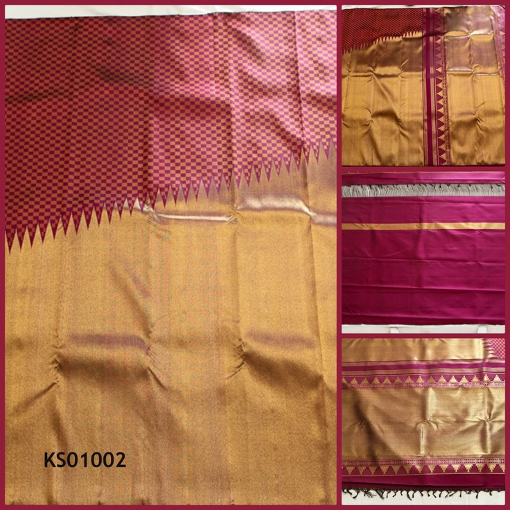 This beautiful bright  half yellow and half maroon bordered saree is a new design as a bridal silk with heavy zari work and embossed with curved motif design patterm in the body of the saree. The dull yellow stands as a contrast to the saree.with excellent zari work done on the pallu of the saree. for more updates keep following us on  https://www.facebook.com/KanchiSilks and our website  www.kanchisilks.com