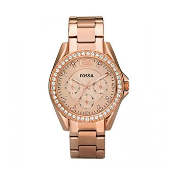 FOSSIL Riley Multifunction Rose Gold Stainless Steel Bracelet ES2811