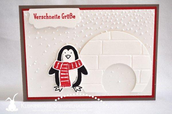 Stampin Up Es schneit Frostige Freunde Iglu Leise rieselt Pinguin