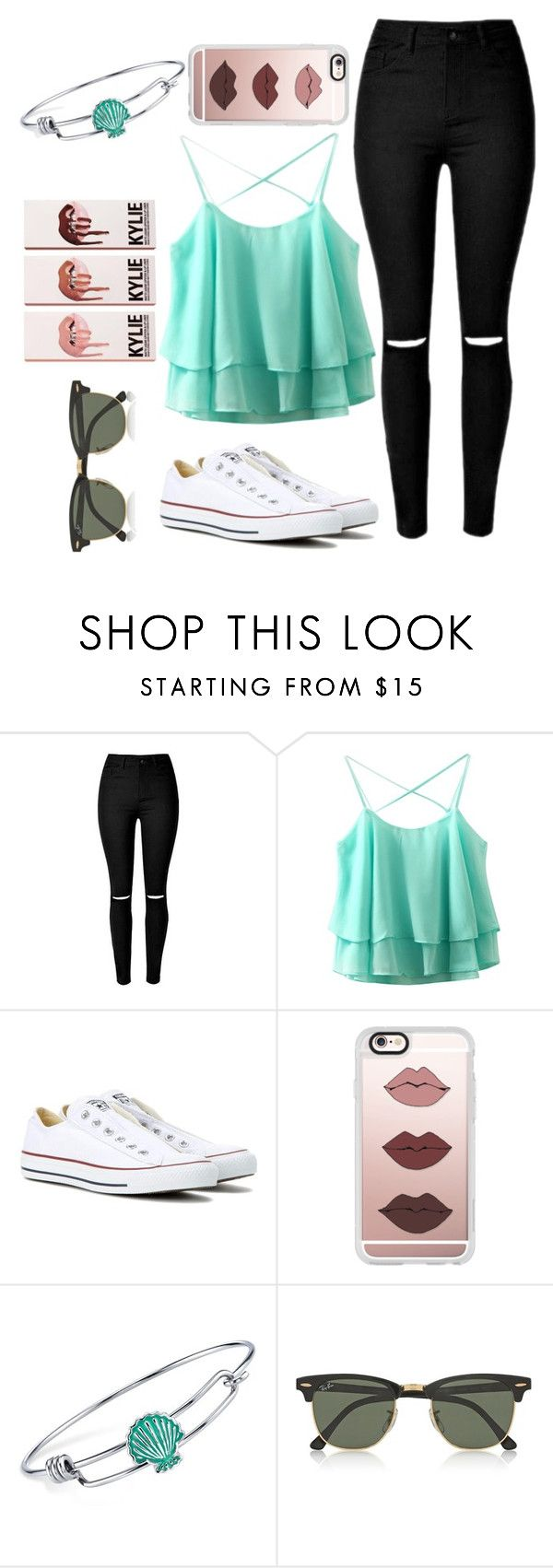 """cool for the summer"" by veeruska-1 on Polyvore featuring Converse, Casetify, Disney and Ray-Ban"