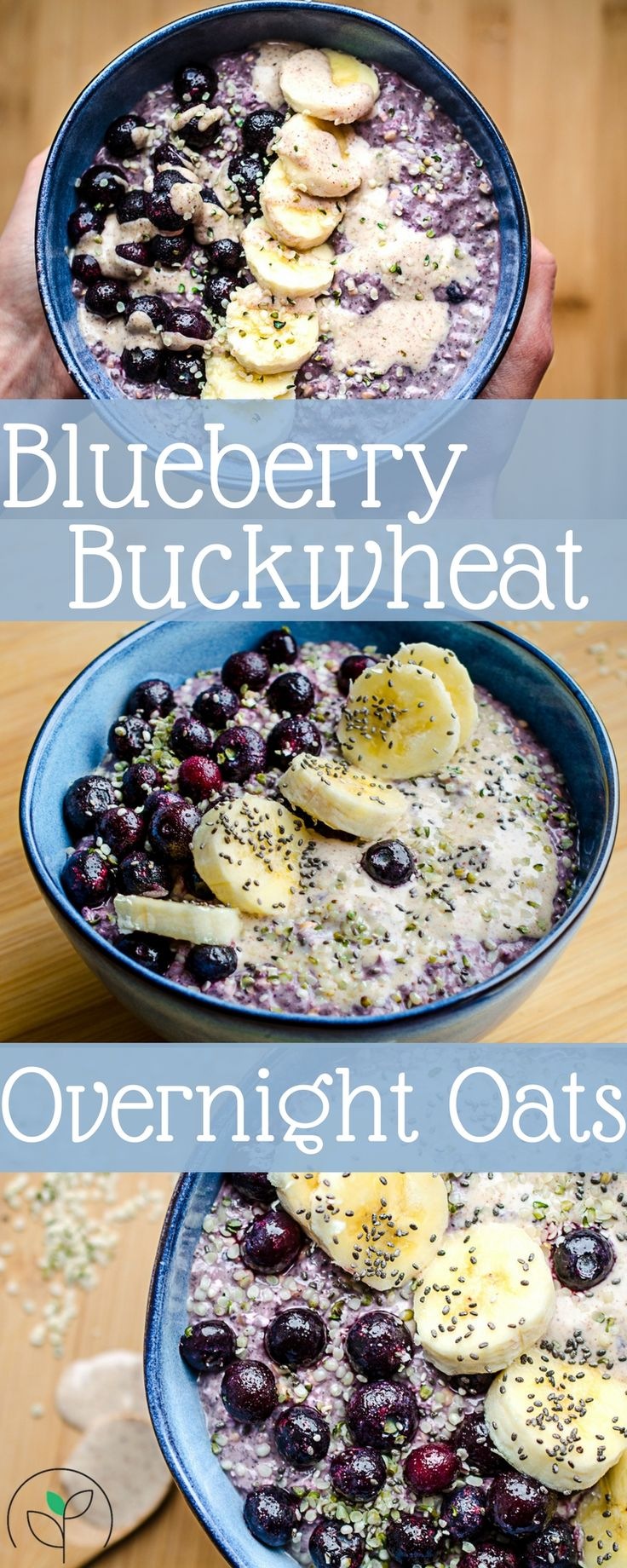 Rise Shine Cook – A Week Of Healthy Plant Based Breakfast Bowls: Overnight Blueberry & Buckwheat Oats
